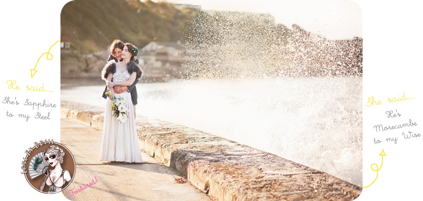 vintage seaside wedding